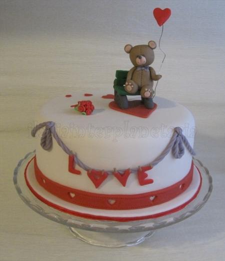 Torta san valentino orsetto (7)