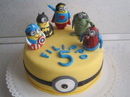 torta minions super eroi (12)